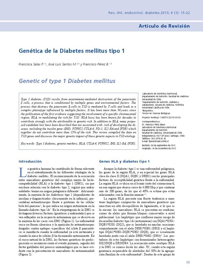 es la diabetes tipo 1 o 2 genética