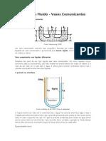 Vasos comunicantes - Pressão num Fluido