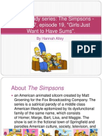 post modernism case study on the simpsons.pptx