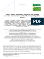 Mobility, Turnover and Storage of Pollutants in Soils, Sediments and Waters.