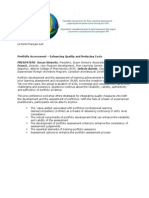Portfolio Assessment - Enhancing Quality and Reducing Costs
