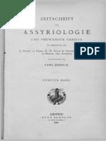 Lehmann 1890 Zu Nabonid's Bericht über die Besiegung des Astyages durch Kyros
