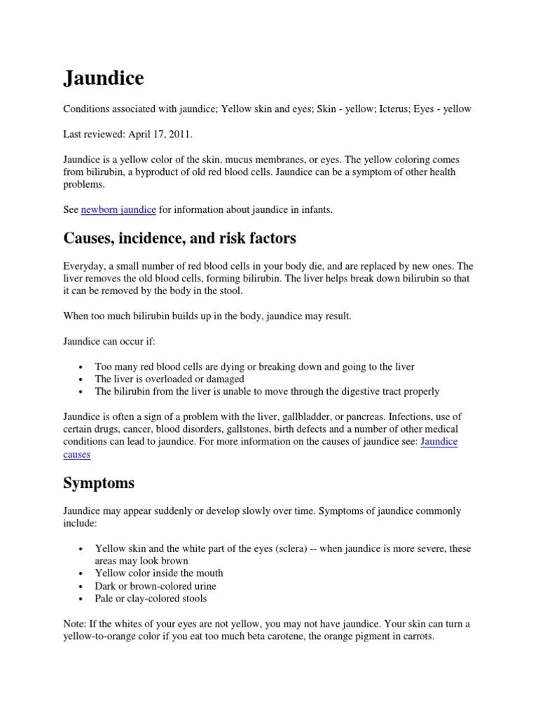 Jaundice docx | Liver | Medical Specialties