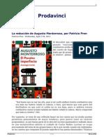 La Reduccion de Augusto Monterroso Por Patricio Pron