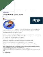 Tarta de queso clásica_ receta