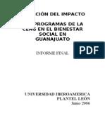 Evaluación del impacto de la CEAG en el Bienestar Social de Guanajuato