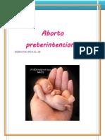 Aborto preterintencional