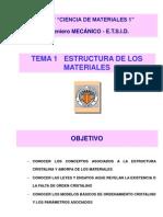 T-1 Estructura de Los Materiales