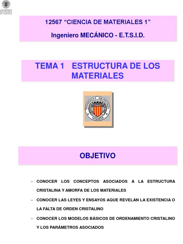 T 1 Estructura De Los Materiales