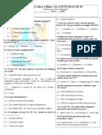 AVALIAÇÃO AS AVENTURAS DE Pí