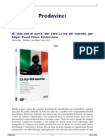 Mi Vida Con El Narco Del Libro La Ley Del Cuerno Por Edgar David Pinon Balderrama