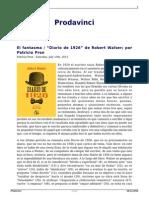 El Fantasma Diario de 1926 de Robert Walser Por Patricio Pron