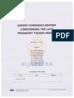 Expert Forensics Report Concerning the Late President Yasser Arafat