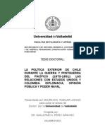POLÍTICA  EXTERIOR DE CHILE  1879 1891