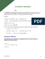 Apuntes de Química Cuántica I Operadores