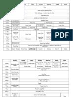 School Schedule 2009-2010