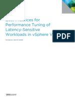 VMW Tuning Latency Sensitive Workloads