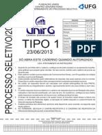 Unirg 2013 2 Cadernoquestao Tipo 1