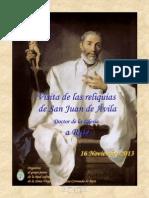 Visita de Las Reliquias de San Juan de Avila a Rute