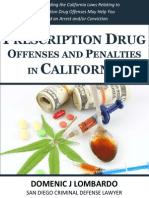 Prescription Drug Offenses and Penalities in California