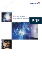 NOVI KATALOG GASOVA MESSER - EnG Inert Gas Welding Indert Gas Welding Selected Reference Tables