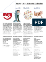 What Doctors Know - 2014 Editorial Calendar