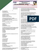 principios da propagação da luz - lista de exercicios