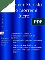 EBD Filipenses-1-e-2 O Viver é Cristo e o Morrer é Lucro