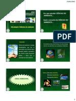 Aulas PARTE 1 - Ciências do Ambiente 2012-2
