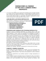 CONSIDERACIONES AL MANEJO REPRODUCTIVO EN EL GANADO DOBLE PROPÓSITO