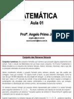 AULA 01 - M - MATEMTICA - Conjuntos dos números naturais