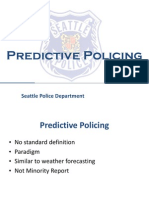 PredPol Presentation to Seattle Police Department