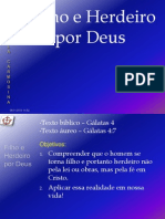 EBD - Gálatas-4.2. Filho e Herdeiro por Deus
