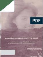 Montañas con recuerdos de mujer - Mujeres por la Dignidad y la Vida