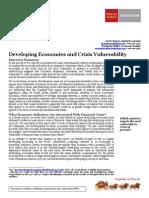 Wells Fargo; Developing Economies and Crisis Vulnerability report