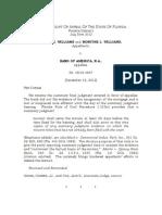 Williams v. Bank Of Am., N.A., 101 So. 3d 1288 (Fla. 4th DCA 2012)