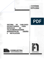 Sistema Cableado Estructurado Residencial COVENIN