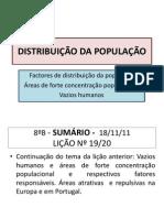 10 - Licao 19-20- GEO - 8.oB Distribuicao Da Populacao Mundial