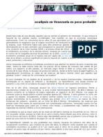 Weisbrot, M. El Tan Esperado Apocalipsis en Venezuela Es Poco Probable, 3-11-13