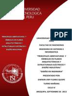 PRINCIPALES ABREVIATURAS  Y SÍMBOLOS EN PLANOS ARQUITECTÓNICOS Y ESTRUCTURALES ELÉCTRICOS Y DISEÑO INDUSTRIAL