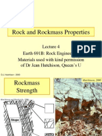 Rockmass Strength Properties