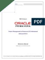 Oracle Primavera P6 R8.1 Manual