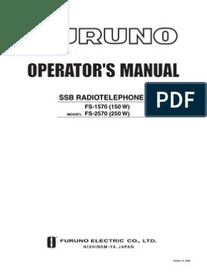 Furuno SSB Operator's Manual pdf | Telecommunications | Wireless