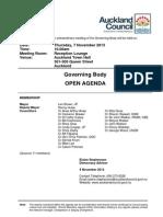 Council Governing Body Agenda - Nov 7, 2013