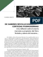 10 de Saberes Revolucionarios y Certezas C.cinnati