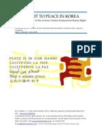 Eric Sirotkin Right to Peace in Korea