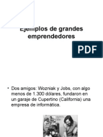 Ejemplos de Grandes Emprendedores