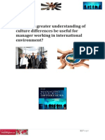 Culture Diffrence and Managers Working in international environment