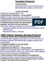 Summary Of Routing Protocols