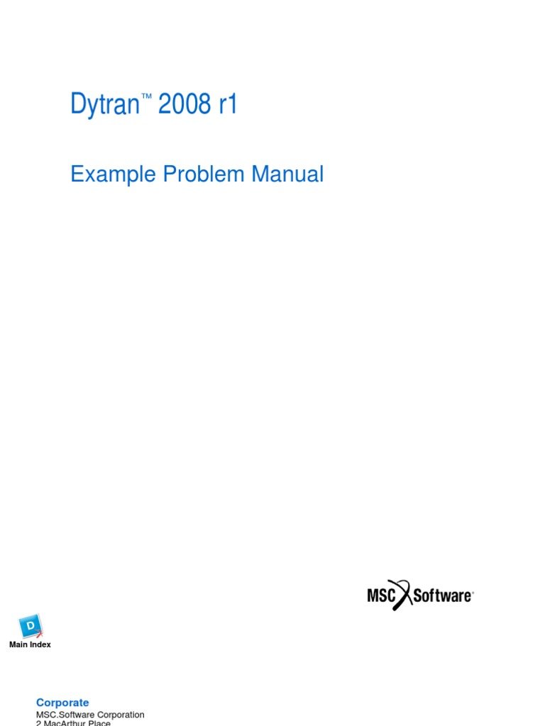 Dytran Example Problem Manual Yield Engineering Stress Mechanics